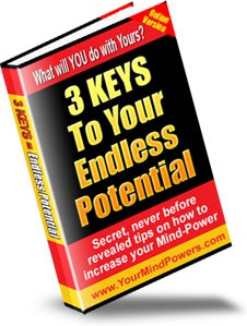 Ebook cover: Mind Power 3 Keys To Your Endless Potential
