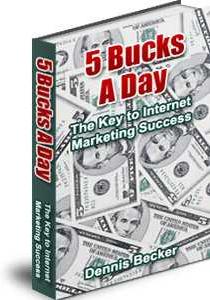 Ebook cover: 5 Bucks a Day
