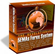 Ebook cover: The 5 EMAs FOREX SYSTEM