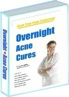 Ebook cover: Overnight Acne Cures - Acne FREE in 1 night