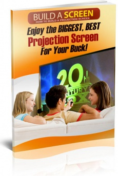 Ebook cover: How to Build A Projector Screen