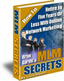 Ebook cover: Brian Garvin's MLM Secrets
