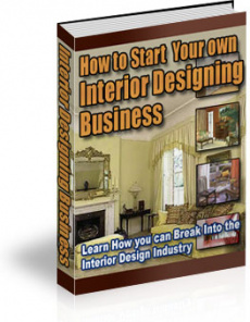 Ebook cover: How to Start Your own Interior Designing Business