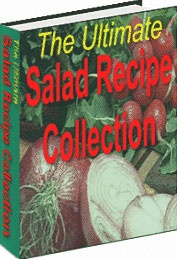 Ebook cover: The Ultimate Salad Recipe Collection