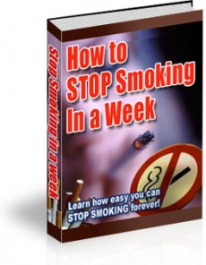 Ebook cover: How To Stop Smoking In a Week!