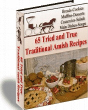 Ebook cover: 65 tried and true amish recipes
