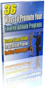 Ebook cover: 36 Ways To Promote Your Affiliate Program