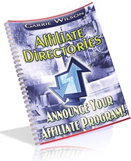 Ebook cover: Affiliate Directories - Announce Your Affiliate Program!
