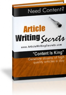 Ebook cover: Article Writing Secrets
