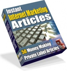 Ebook cover: 50 Instant Internet Marketing Articles