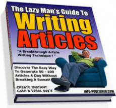 Ebook cover: The Lazy Man's Guide To Writing Articles
