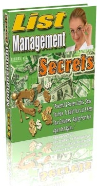 Ebook cover: List Management Secrets