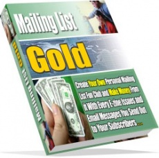 Ebook cover: Mailing List Gold
