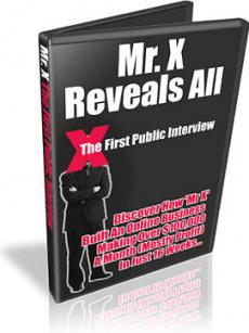 Ebook cover: Mr.X Reveals All