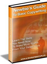 Ebook cover: Newbie's Guide To Basic Copywriting