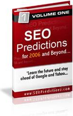 Ebook cover: SEO Predictions for 2006 and beyond...