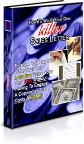 Ebook cover: How To Write Your Own Killer Sales Letter