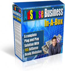 Ebook cover: AdSense Business In-A-Box (16.000+ Articles, 155 sites)