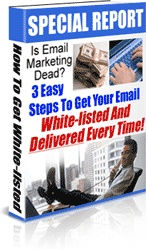 Ebook cover: 3 Simple Steps To Getting Whitelisted With All Of The Major E-Mail Service Providers!