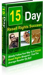 Ebook cover: 15 Day Resell Rights Success