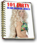 Ebook cover: 101 dirty dumb blonde jokes