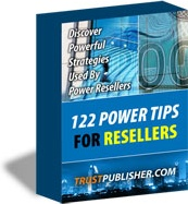 Ebook cover: 122 Power Tips For Resellers