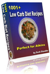 Ebook cover: 1001+ Low Carb Diet Recipes