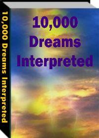 Ebook cover: 10000 Dreams Interpreted