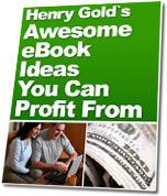 Ebook cover: Awesome Ebook Ideas You Can Profit From!