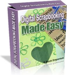 Ebook cover: Digital Scrapbooking Made Easy