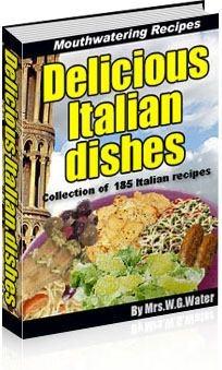 Ebook cover: Delicious Italian dishes