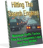 Ebook cover: Hitting the search engines cheaply but powerfully