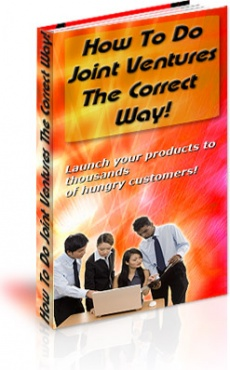 Ebook cover: How To Do Joint Ventures The Correct Way!