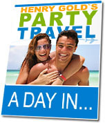Ebook cover: Party Travel - A Day In...