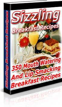 Ebook cover: Sizzling Breakfast Recipes
