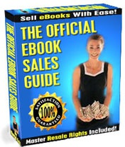 Ebook cover: The Official eBook Sales Guide