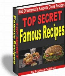 Ebook cover: Top Secret Famous Recipes
