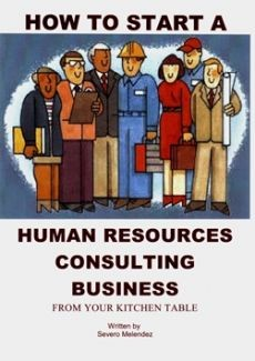 Ebook cover: How To Start A Human Resources Business - From Your Kitchen Table