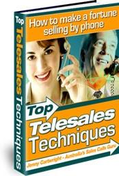 Ebook cover: Top Telesales Techniques