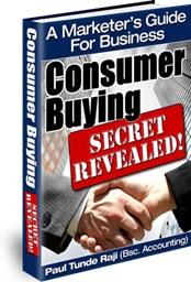 Ebook cover: Consumer Buying Secret REVEALED