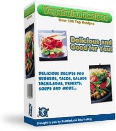 Ebook cover: 125 Vegetarian recipes