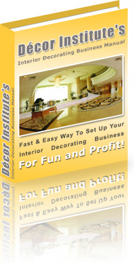 Ebook cover: Interior Decorating Business For Fun and Profit