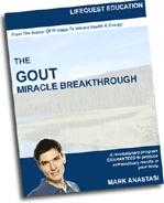Ebook cover: Gout Breakthrough