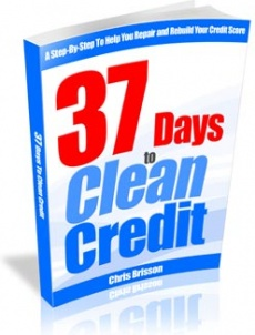 Ebook cover: 37 Days to Clean Credit: Step By Step Credit Repair Guide