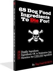 Ebook cover: 68 Dog Food Ingredients to Die For
