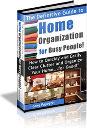Ebook cover: Home Organization for Busy People