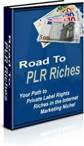 Ebook cover: Road To PLR Riches