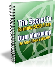 Ebook cover: Bum Marketing Is The Answer