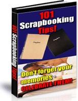 Ebook cover: 101 Scrapbooking Tips!