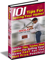 Ebook cover: 101 Tips For Selling Your Home!